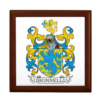Bonnell Family Crest Jewelry Boxes