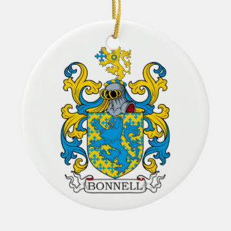 Bonnell Family Crest Christmas Ornaments
