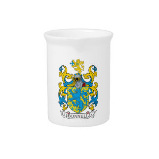 Bonnell Family Crest Beverage Pitchers