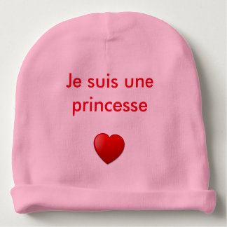 "Bonnet baby girl ""I am a princess "" Baby Beanie"