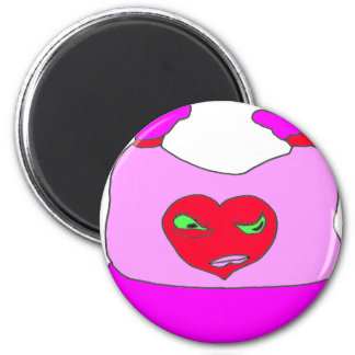 BONNET BABY HEART MOM 1.PNG 2 INCH ROUND MAGNET