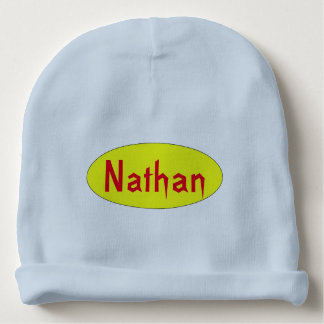bonnet baby Nathan first name Baby Beanie