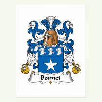 Bonnet Family Crest Postcard