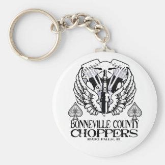 Bonneville County Choppers Spark Plug Keychain