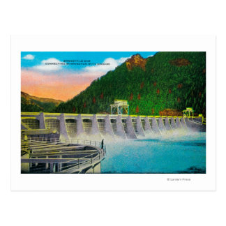 Bonneville Dam on Columbia River Postcard