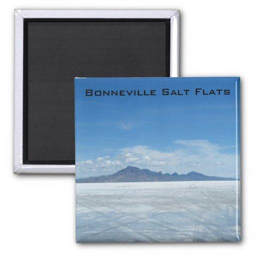 Bonneville Salt Flats 2 Inch Square Magnet