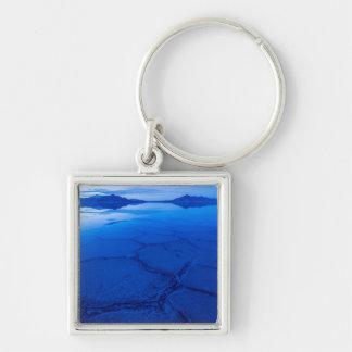 Bonneville Salt Flats In Winter - Utah Keychain