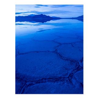 Bonneville Salt Flats In Winter - Utah Postcard