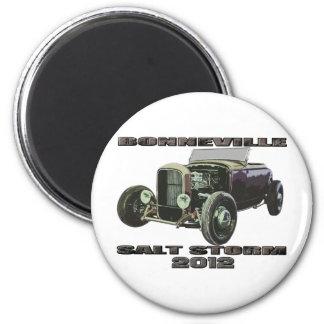 Bonneville Salt Flats Racing 1929 Ford 2 Inch Round Magnet