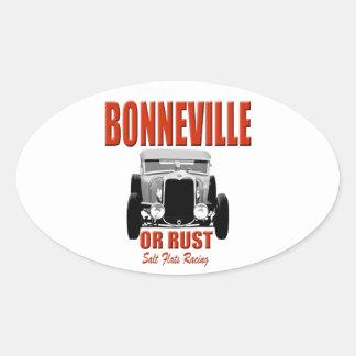 bonneville salt flats racing oval sticker