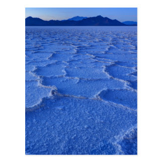 Bonneville Salt Flats Sunset - Utah Postcard