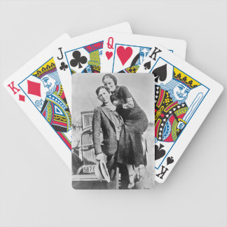 bonnie and clyde bicycle playing cards