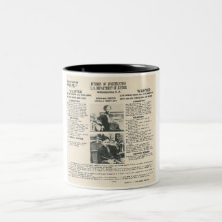 bonnie and clyde fbi poster mug
