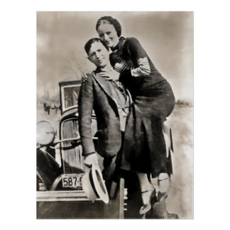 BONNIE and CLYDE - TEXAS Poster