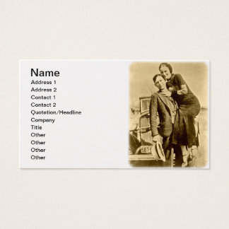 Bonnie and Clyde - The Barrow Gang Business Card