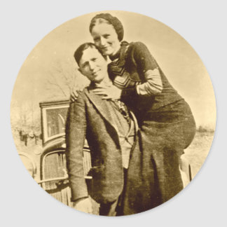 Bonnie and Clyde - The Barrow Gang Classic Round Sticker