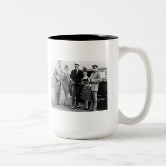 Bonnie and Clyde's Gang Two-Tone Coffee Mug