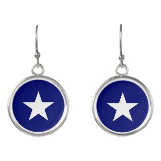 """""""Bonnie Blue Flag"""" Drop Earrings"""
