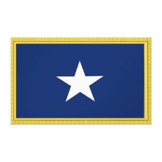 Bonnie Blue Flag First Texas Cofederate Volunteers Canvas Print