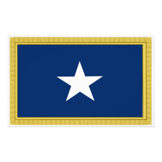 Bonnie Blue Flag First Texas Cofederate Volunteers Photographic Print