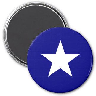 Bonnie Blue Flag White Star 3 Inch Round Magnet