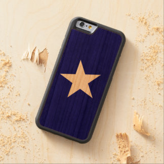Bonnie Blue Flag White Star Carved Cherry iPhone 6 Bumper Case