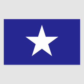 Bonnie Blue Flag White Star Rectangular Sticker