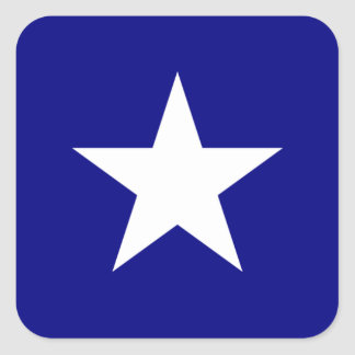 Bonnie Blue Flag White Star Square Sticker