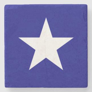 Bonnie Blue Flag White Star Stone Coaster