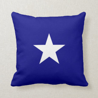 Bonnie Blue Flag White Star Throw Pillow