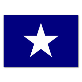 Bonnie Blue Flag with Lone White Star Table Card