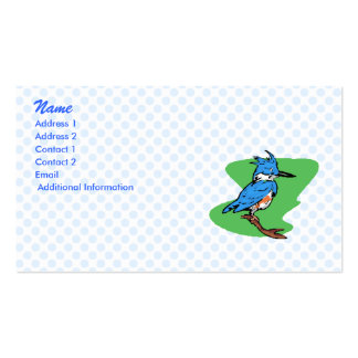 Bonnie Blue Jay Double-Sided Standard Business Cards (Pack Of 100)