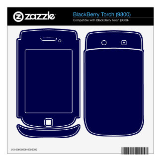 BONNIE BLUE (solid color) ~ BlackBerry Torch Skin
