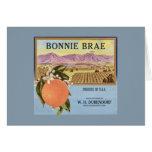 Bonnie Brae Oranges Fruit Crate Label