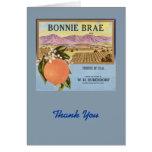 Bonnie Brae Oranges Fruit Crate Label Card