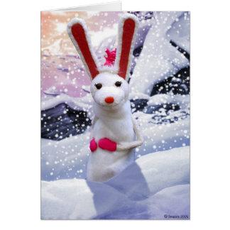 Bonnie Bunny Christmas Card
