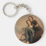 Bonnie & Clyde Basic Round Button Keychain