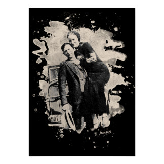 Bonnie & Clyde (bleached look) Poster