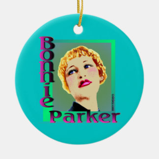 Bonnie & Clyde Ceramic Ornament