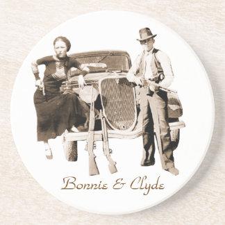 Bonnie & Clyde Beverage Coasters