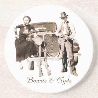 Bonnie & Clyde Drink Coaster