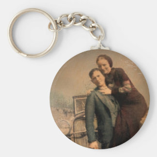 Bonnie & Clyde Keychain