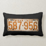 Bonnie & Clyde License Plate Throw Pillow