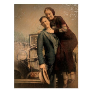 Bonnie & Clyde Post Cards