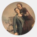 Bonnie & Clyde Round Stickers
