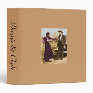 Bonnie & Clyde Scrapbook 3 Ring Binders