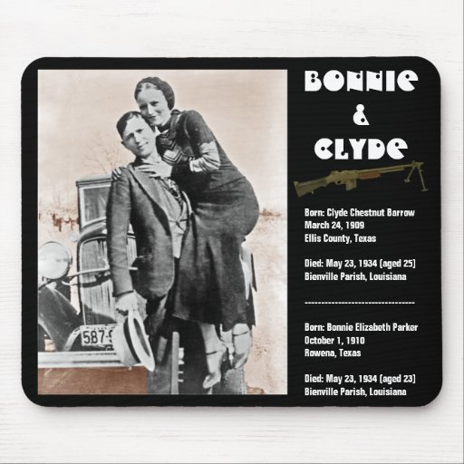 Bonnie & clyde (sepia) on black, Army_Heritage_... Mousepads