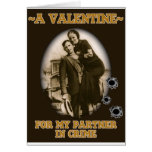 Bonnie & Clyde Valentine Greeting Card