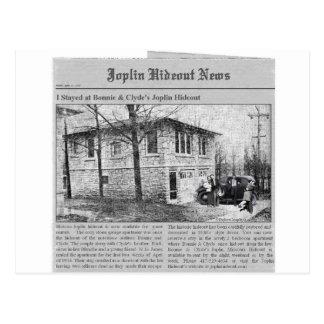 Bonnie & Clyde's Joplin Hideout Postcard