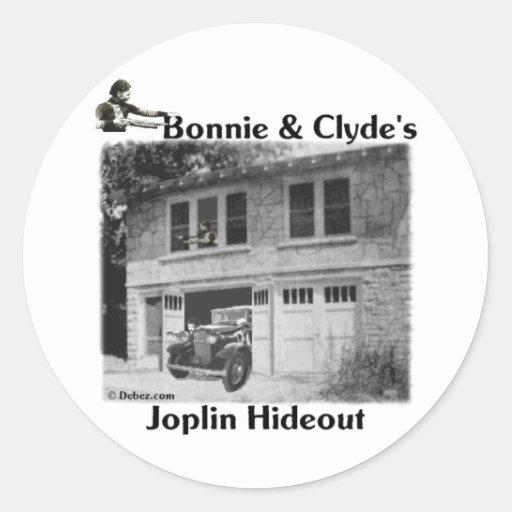 Bonnie & Clyde's Joplin Hideout Stickers